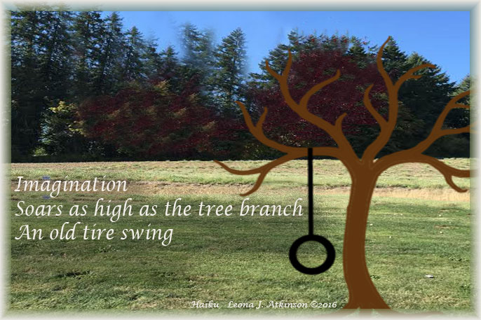 Haiku--Old tire swing