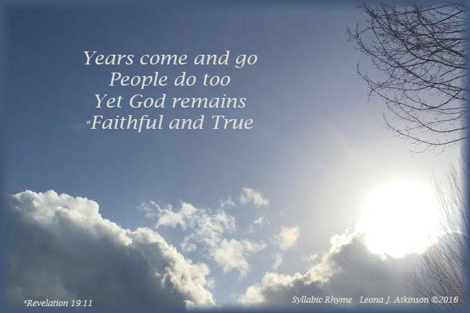 Faithful and True--God