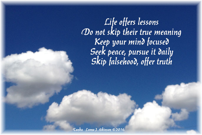Life Lessons--Skip and Seek
