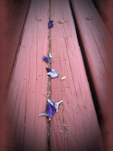 bench, petals