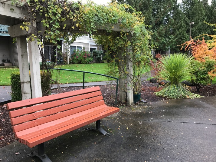 Bench, outdoors