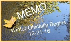 MEMO to Winter from Fall