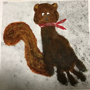 Squirrel painting