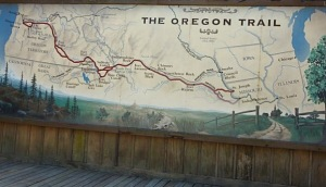 Map of Oregon Trail
