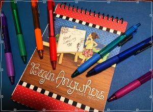 Notebook, pens