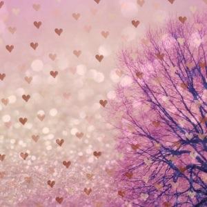 Pink Heart Sky