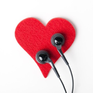 Heart, headphones