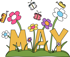 May, flowers, butterfly