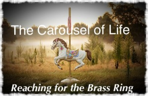 Carousel Horse in a field