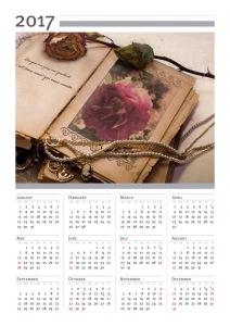 Vintage Rose 2017 Calendar