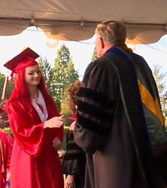 Vivian receives diploma