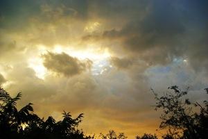 Storm clouds, sunshine
