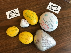 Don't Give Up Message Rocks
