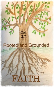 Tree with deep roots in faith original drawing
