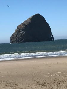 Big Rock in Ocean in Oregon