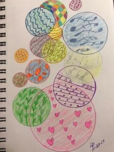 Circles, abstract art