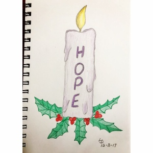 Hope Advent Candle