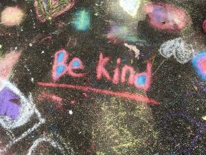 Be Kind chalk drawing