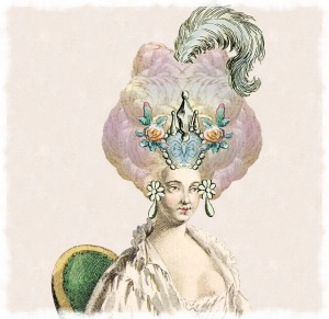 Lady with an 18th century hairstyle, pompadour