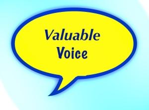 Speech bubble, valuable voice text