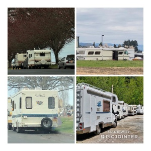 Homeless Campers, RVs, parked on city streets
