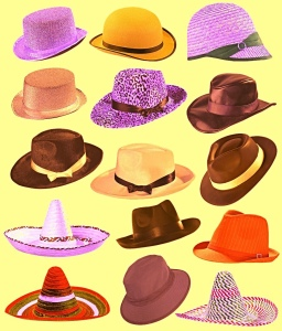 Many different hats