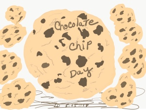 Chocolate Chip Cookies drawing by Leonas Designs