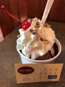 Hot Fudge Sundae at Serendipity Ice Creme Shoppe