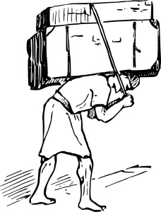 Man carrying a burden
