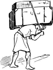 Man carrying a burden