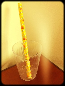 Paper Straw in a Plastic Cup