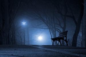 Blue moon, blue night,