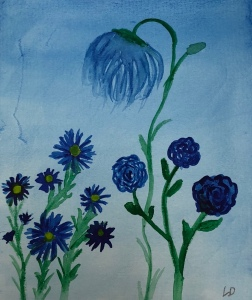 Shades of Blue watercolor by Leonas Designs