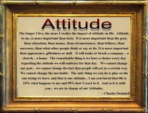 Attitude explained by Chuck Swindoll picture