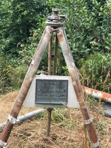 Billy Anderson's Surveyor Tripod at Andersons View Point  July 2018