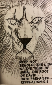 Lion of Judah drawing by Leonas Designs