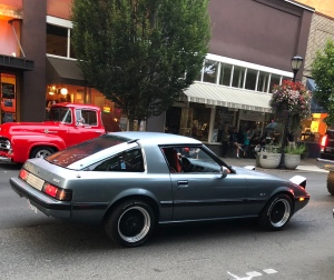 Grand-daughter's 1985 RX-7 Mazda cruising downtown McMinnville