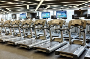 Treadmills at the gym