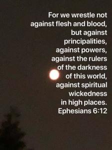 Moon, Ephesians 6:12 scripture verse
