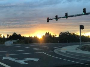 Corner, sunset