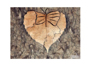 Leaf, butterfly