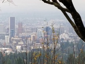 Photo overlooking the city of  Portland Oregon