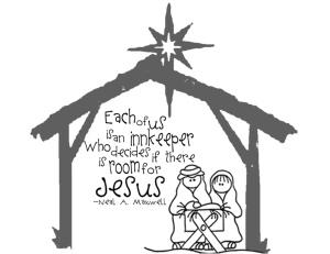 Manger, Nativity, Drawing