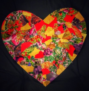 Torn Paper Heart Collage