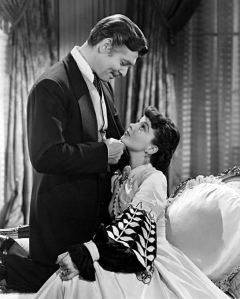 Image of Clark Gable and Vivian Leigh in Gone With The Wind