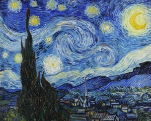 """The Starry Night"" painting by Vincent Van Gogh 1889"