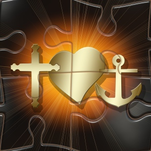 Cross, Heart, Anchor
