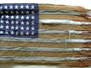 USA Flag tattered