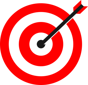Bullseye with arrow in the middle