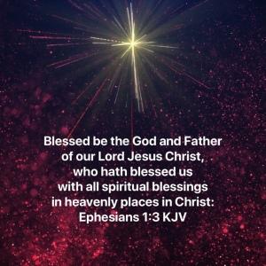 Ephesians 1:3 scripture verse image